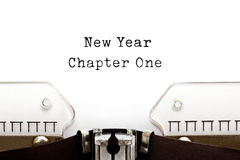 New Year Chapter One Typewriter royalty free stock image