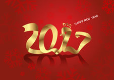 New Year 2017 chicken asian. Vector Royalty Free Stock Image