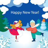 New Year Childen D Royalty Free Stock Photos