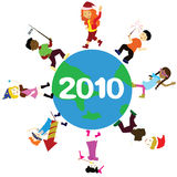 New year children of the world Stock Photography