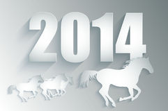 New Year 2014. Chinese new year 2014 Stock Photo