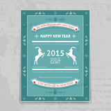 New Year 2015 Chinese Horoscope Poster. Graphic with Goat Icons Royalty Free Stock Photography