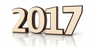 New Year 2017 and chocolate Royalty Free Stock Image