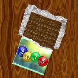New Year 2015 chocolate generated texture. Or background Royalty Free Illustration