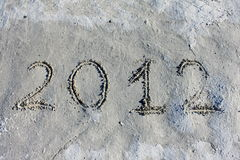 New year, Christmas 2012 and doomsday. For background on white Royalty Free Stock Photo