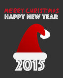 New Year Christmas 2015. Abstract Background Royalty Free Stock Photo