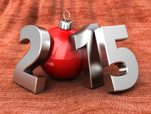 2015 new year and Christmas. Abstract 3d illustration of 2015 year sign over carpet background Stock Images