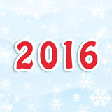 New Year 2016. Christmas and New Year background . New Year 2016 Stock Illustration