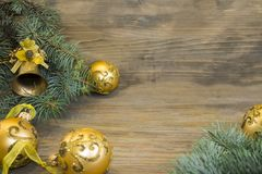 New year or christmas background with blank space fro text royalty free stock photography