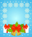 New Year and Christmas background ,blue Stock Photography