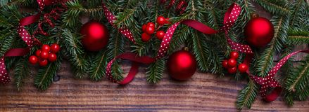 New Year and Christmas background Stock Photos
