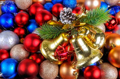 New Year and Christmas background Stock Images