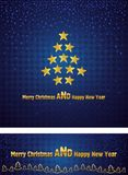 New Year and Christmas background with a gold star Stock Images