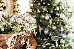 New Year and Christmas background image Stock Photography
