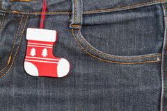 New year, Christmas background. Jeans texture Royalty Free Stock Images