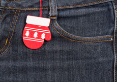 New year, Christmas background. Jeans texture Stock Photo
