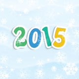 New Year and Christmas background. New Year and Christmas snow background Royalty Free Stock Photos