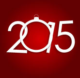 New Year 2015. Christmas Background Vector Royalty Free Stock Photography
