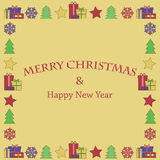 New Year and Christmas background. Christmas background.New Year and Christmas background for your design Royalty Free Stock Image