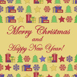 New Year and Christmas background. Christmas background.New Year and Christmas background for your design Stock Photography