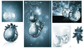 New year and Christmas backgrounds. Collection Stock Photography
