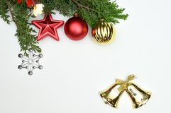 New Year and Christmas backgrounds or isolation and design Royalty Free Stock Images