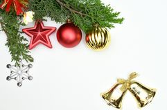 New Year and Christmas backgrounds or isolation and design Stock Photography