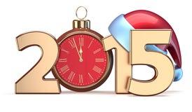 New 2015 Year Christmas ball alarm clock decoration Royalty Free Stock Photo