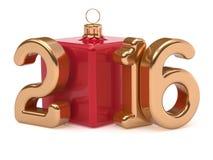 New 2016 Year Christmas ball cube joke Merry Xmas bauble Stock Photos