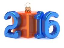 New Year 2016 Christmas ball cube joke Merry Xmas bauble Stock Images