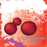 New year. 2014 christmas ball snowflakes winter Royalty Free Stock Photography