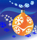 New-year and Christmas ball vector illustration. Stock Images