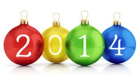 2014 New year christmas balls Stock Photo