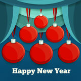 New year christmas baubles. Vector illustration Eps 10 Stock Images