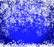 New Year and Christmas blue background Royalty Free Stock Photo