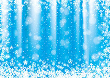 New Year and Christmas blue background. New Year and Christmas blue background with snowflakes Royalty Free Stock Image