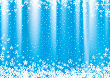 New Year and Christmas blue background. New Year and Christmas blue background with snowflakes Royalty Free Stock Photography