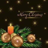 New year and Christmas card with decorations Royalty Free Stock Photography