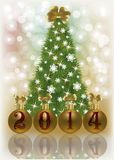 New 2014 Year Christmas card Stock Images
