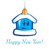 New Year Christmas cartoon house Stock Photo