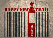 New Year and Christmas celebration card. Happy New Year text Royalty Free Stock Image