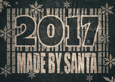 New Year and Christmas celebration card. Made by Santa text Royalty Free Stock Photography