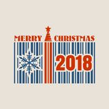 New Year and Christmas celebration card. Stock Images