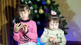 New Year, Christmas children play together stock video