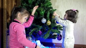 New Year, Christmas children play together stock video footage
