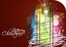 New year and christmas colorful design. Abstract background for new year and Christmas colorful design, text project used Stock Photo