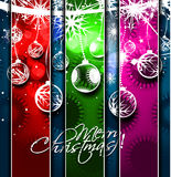 New year and for Christmas colorful design Stock Image