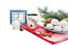 New Year and Christmas composition stock photo