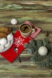 New Year and Christmas composition royalty free stock photo