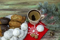New Year and Christmas composition stock photos